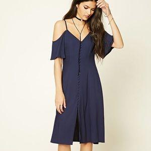 Cold shoulder midi dress